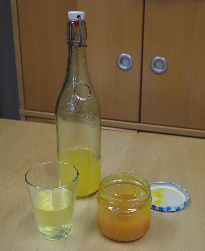 bouteille de limonade bio au curcuma